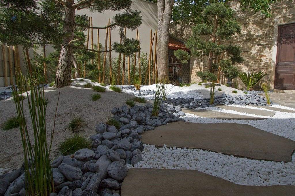 création jardin zen Aix en Provence, Marseille, Bouches-du-Rhône, 13
