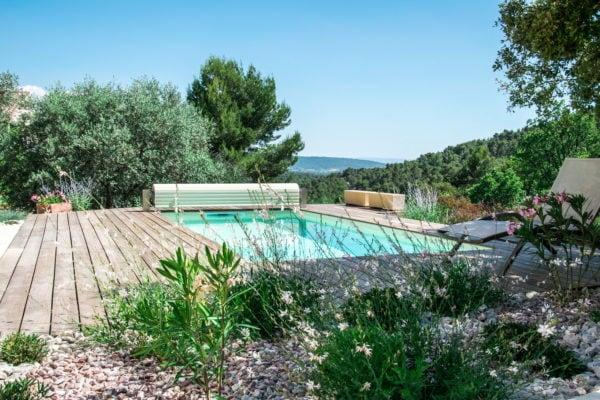 Réalisation d'une piscine en bois à Aix en Provence, Marseille, Bouches-du-Rhône, 13