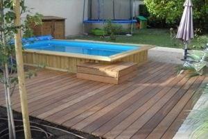 Installation d'une piscine bois Bluewood à Gardanne