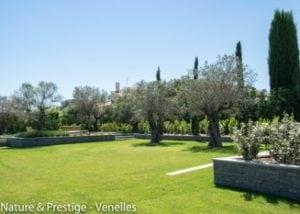 Création d'un jardin méditerranéen par Nature et Prestige