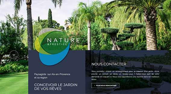 Nouveau logo nouveau site Nature et Prestige