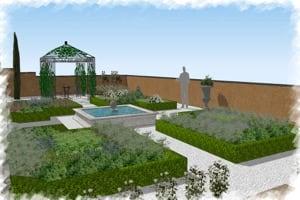 jardin à la française en 3D