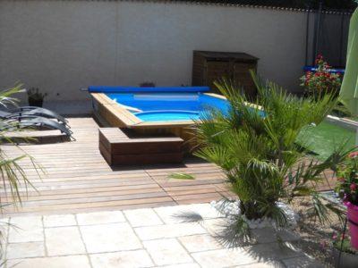 Construction d'une piscine bois Bluewood & ses abords à Gardanne