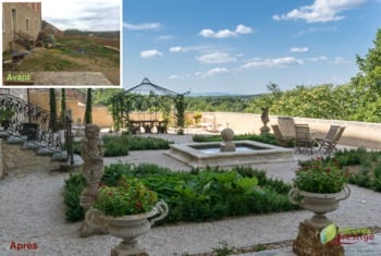 Un jardin pour plantes aromatiques et médicinales par Nature et Prestige