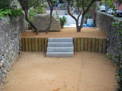 aménagement d'un petit jardin de ville à Marseille