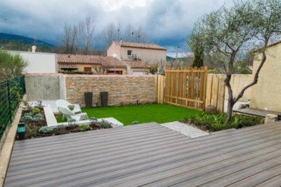 petit jardin moderne proche Marseille 13