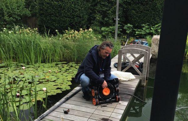 Robot piscine naturelle