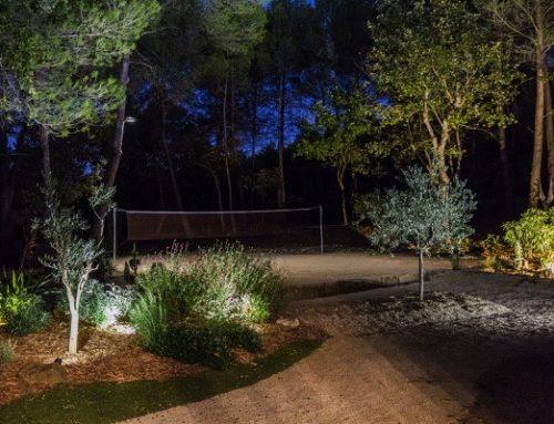 Un terrain de sport dans son jardin
