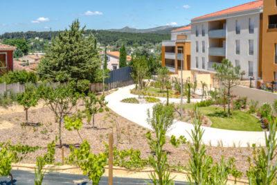 Aménagements espaces verts résidence Bouches du Rhône