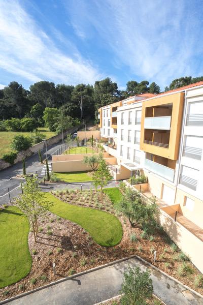 aménagement jardin résidentiel région aix en Provence